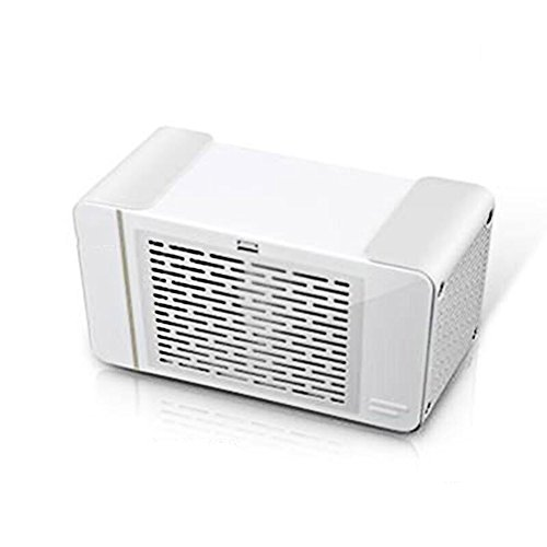 L&Zr Mini Air Conditioner Mini Cooler Refrigerator Bed Student Dormitory USB Charger Portable Small Fan Office Fan,White by L&Zr