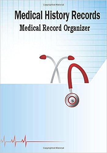 medical history records medical record organizer health organizer