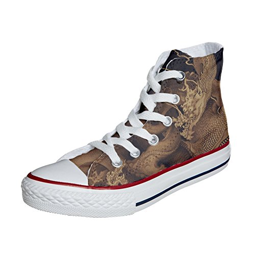 avec dragon Coutume Customized artisanal le Chaussures produit Converse pwU0Xqq