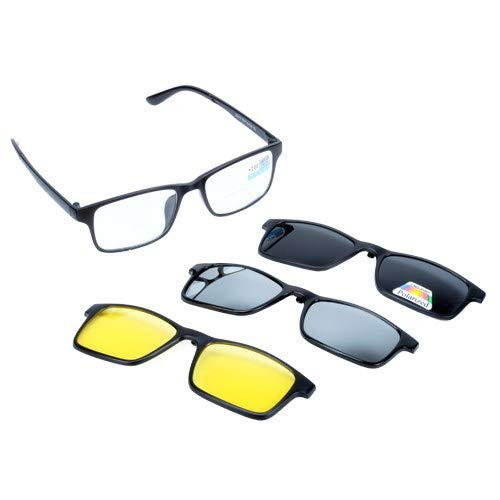 Akicon Driving and Fishing Bifocal Reading Glasses Ultra Light with Three Kinds of Different Color Lens (+2.0) (Best Lens Color For Fishing)