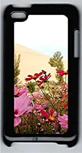 iPod 4 Case Flowers Girlys PC Custom iPod 4 Case Cover Black