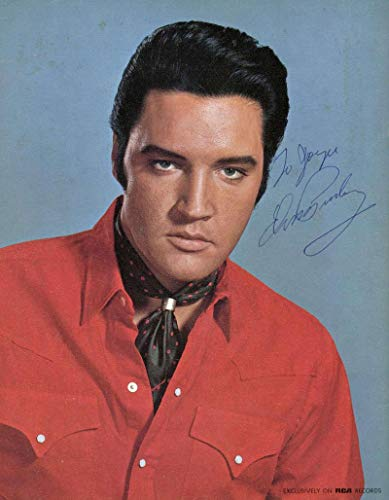 - Elvis Presley Signed Autographed 8x10 RCA Color Photograph Beckett BAS MINT 9 - Beckett Authentication