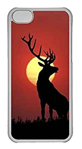 Personalized Custom Horned Deer for iPhone 5C PC Transparent Case