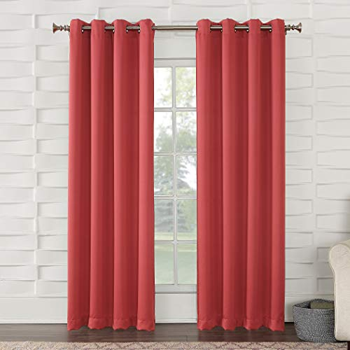 (Sun Zero Barrow Energy Efficient Grommet Curtain Panel, 54