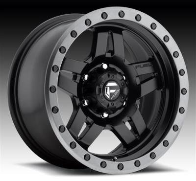 Fuel Anza 17 Black Wheel / Rim 5x5.5 with a -6mm Offset and a 108 Hub Bore. Partnumber D55717858545