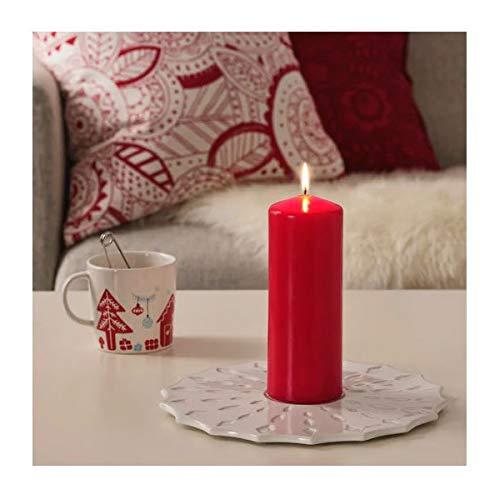 Candela cilindrica Senza Profumo Colore: Rosso 20 cm Unbekannt VINTERFEST Ikea