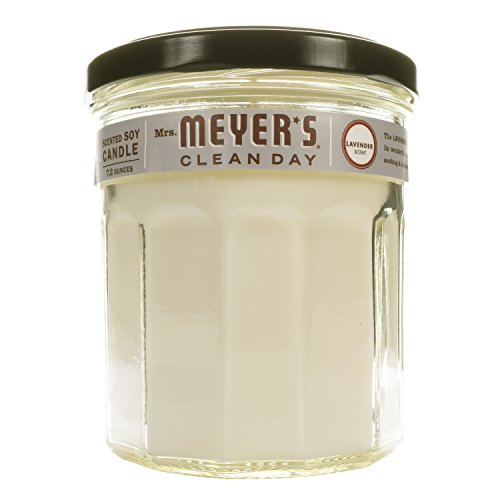 MRS MEYERS Soy Candle Large, Lavender, 7.2 Ounce (Pack of 2)