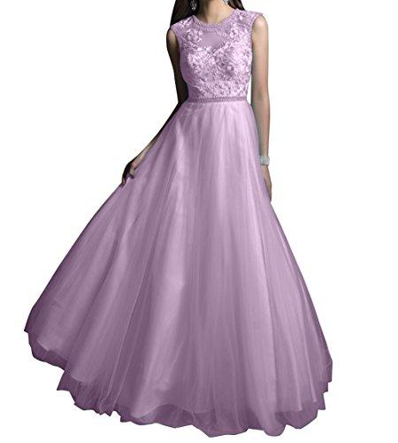 mia Abschlussballkleider A Abendkleider Promkleider Prinzess Partylkleider Linie Festlich Rock La Braut Spitze Langes Flieder AqxX8Wdwv