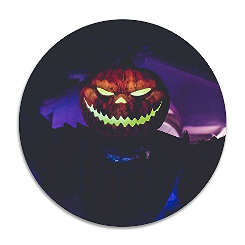 Feimao Halloween Pumpkin Monster Non Slip Round Floor Cushion Pad Stool Cover 16 Inch -