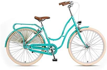 Guyuexuan Bicicleta Retro, de 26 Pulgadas, Simple y Elegante ...