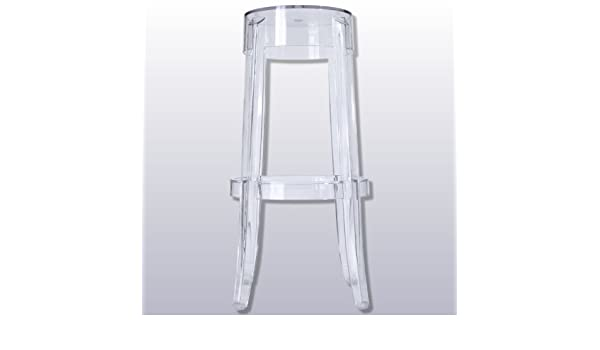 Hogarymuebles.com - Pack 2 Taburetes charles ghost metacrilato, color transparente: Amazon.es: Hogar
