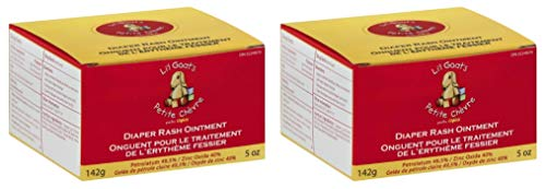 Li'l Goat's by Canus Diaper Rash Ointment (Pack of 2) with Kaolin and Beeswax, Paraben Free, 5 oz. Each,