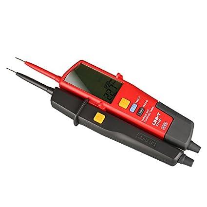 UNI-TUT18D - voltímetro digital 690 V AC DC medidor de voltaje Detector de metales