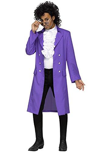 Cool Guys Halloween Costumes (Purple Pain 80s Pop Star Adult Costume)