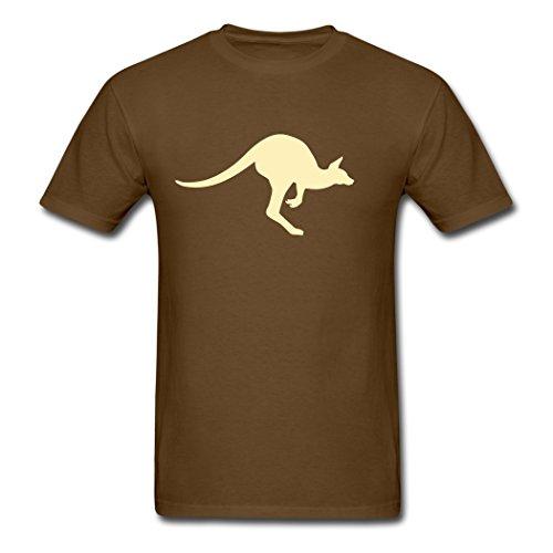 Australia Kangaroo For Custom Design Men's T-Shirts Brown - Shopping Online Australia Sydney