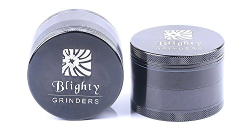 Blighty Grinders - Seriously Awesome 2.5 Inch Herb Grinder - 4 Piece with Pollen Catcher - Aerospace Aluminum (2.5