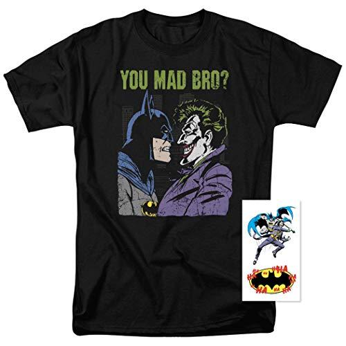 Batman Vs. The Joker You Mad Bro T Shirt & Exclusive Stickers -