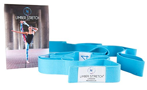 Limber Stretch Yoga Flexibility Stretch Out Strap with loops for Workout Recovery & Home Physical Therapy Exercises