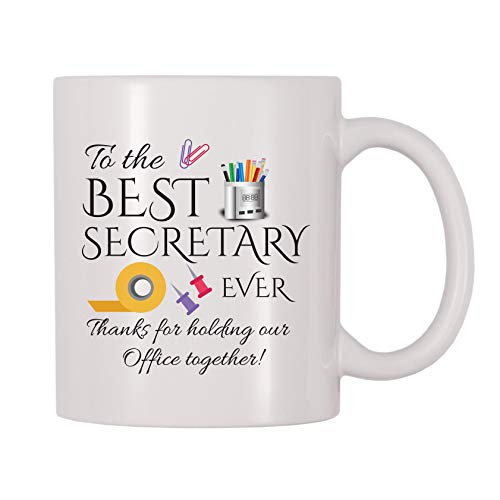 4 All Times To The Best Secretary Ever Thanks For Holding Our Office Together Coffee Mug (11 oz)