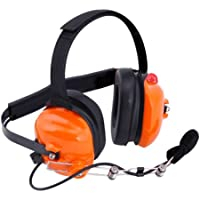 Rugged Radios H42-ORN Orange 2-Way Headset