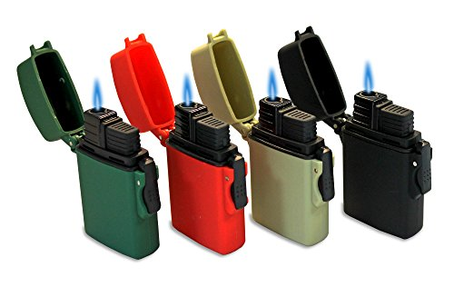 Eagle Lighter - Eagle Easy Release Flip Top Lighter - Pack of 4 Single Flame