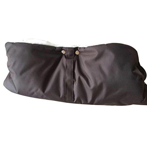 Baby Stroller Winter Waterproof Pram Hand Warm Glove(Coffee) - 9