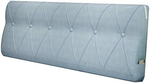 WZBヘッドボードクッションウエストを簡単に支えるシンプルで快適なPPコットンサイドポケット、5色、5サイズ(色:B-ブルー、サイズ:150x60x15cm)