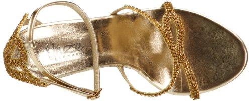 L18216W Gold Sandals Womens Evening flops Flip Unze fF1XqOwYn