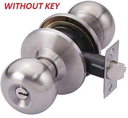 Smart Shophar Stainless Steel Latch Lock Light Without Keys Silver