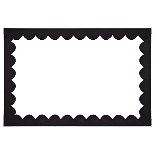 Trim Black Scalloped (Shappy Scalloped Border Trim, Black Felt Decorative Border for Bulletin Board and Wall Decoration, 36 Feet Total Length)