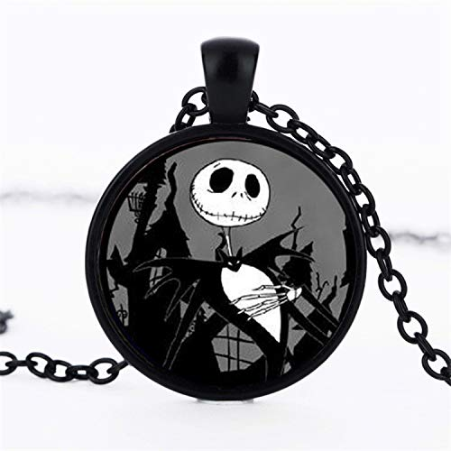 (CHITOP The Nightmare Before Christmas- Jack Skellington Glass Dome Necklaces&Pendants Jewelry Gifts Children Statement Necklace 2017)