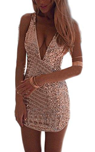 Zeagoo Damen Padding armel Pailletten Tull Abendkleid Gr. 36  ( Herstellergröße: L)