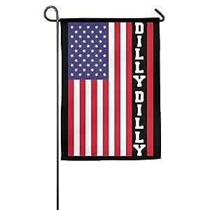 Dilly Dilly bandera de Estados Unidos Graphic casa patio jardín bandera para aniversario de boda