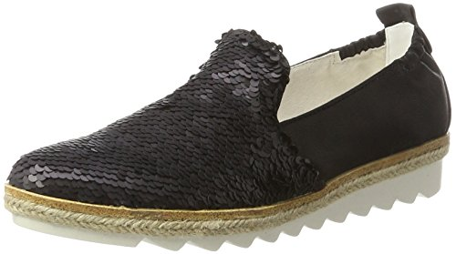 S.oliver Signore 24625 Nero Pantofola (paillettes Nere 11)