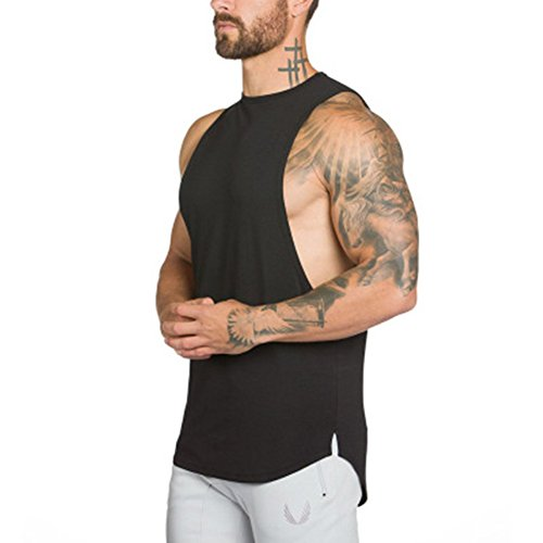 Jogging Sport M Blouse Top Blanc Shirt Manches de shirt Muscle sans Tank  Débardeur DOTBUY T ... db08a9d2a572