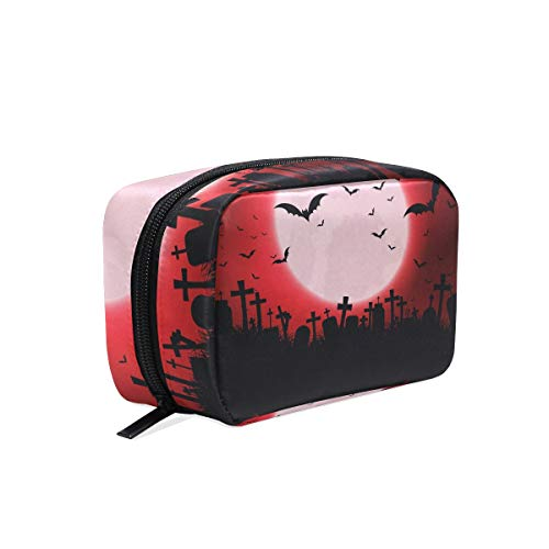 Cosmetic Bag Portable and Suitable for Travel Halloween With Evil Eyes Make Up bag with Zipper Pencil Bag Pouch Wallet ()