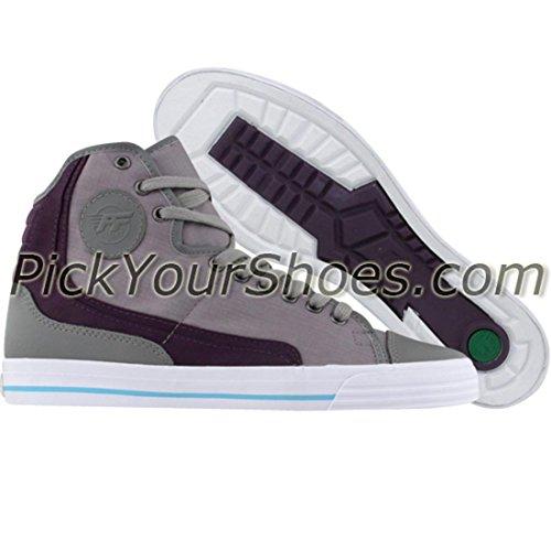 PF Flyers Glide Hi-Top Sneaker, Grey, 8 M US (Glide Flyers Pf)