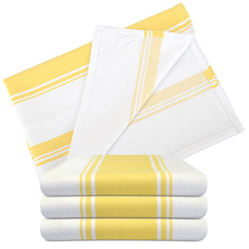 The Homemakers Dish Kitchen Towels Vintage Striped 100% Cotton Tea Towel 20 x 28 inch Set of 4, -