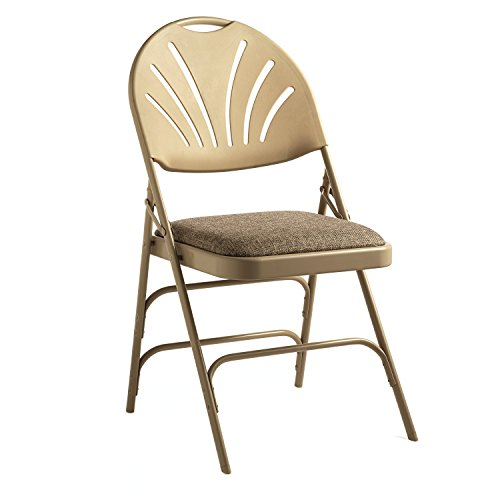 (Samsonite XL Fanback Steel & Fabric Folding Chair (Case/4) Neutral)
