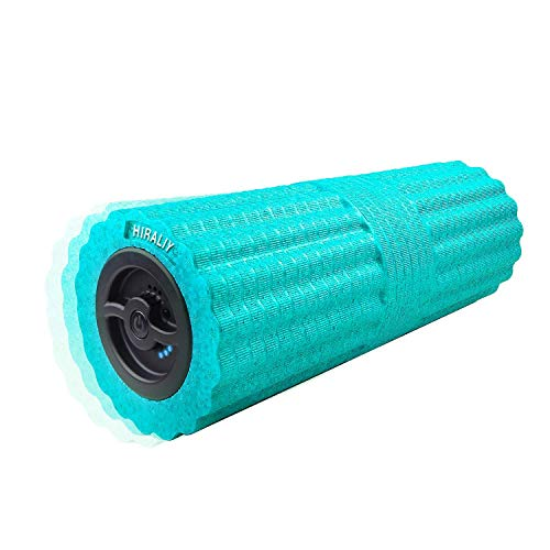 HIRALIY 4 Speed High Intensity 17 Inch Vibrating Foam Roller Deep Tissue Massager Rechargeable Exercise Muscle Roller for Muscle - Foam Eco Roller