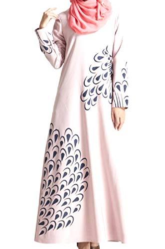 Kaftan Neck Long 2 Round Maxi Women neveraway Dress Islamic Vintage Tea EwqXpIxF