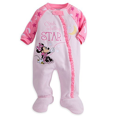 Disney Store Minnie Mouse Snap Blanket Sleeper Footed for Baby (Minnie) (12-18 (Pajamas Stores)