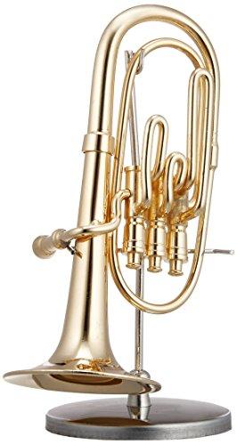 [해외]SUNRISE SOUND HOUSE 선라이즈 사운드 하우스 미니어처 악기 바리톤 16 골드 / SUNRISE SOUND HOUSE Sunrise Soundhouse Miniature Instrument Baritone 16 Gold
