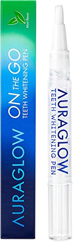 AuraGlow Teeth Whitening Pen, 35% Carbamide Peroxide, 20+ Whitening Treatments, No Sensitivity, 2mL (Syringe Whitener)