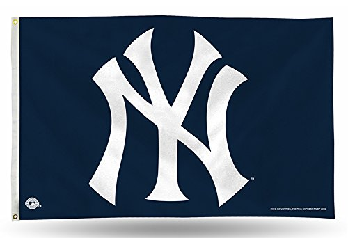 (MLB New York Yankees 3-Foot by 5-Foot Banner Flag)