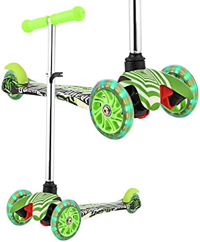 WeSkate Scooter for Kids, Kick Scooter with 3 Wheel Scooter for Toddlers Girls Boys, 3 Adjustable Height, Safe Lean to Steer with PU Flashing Wheels for Children from 3 to 12 Years Old