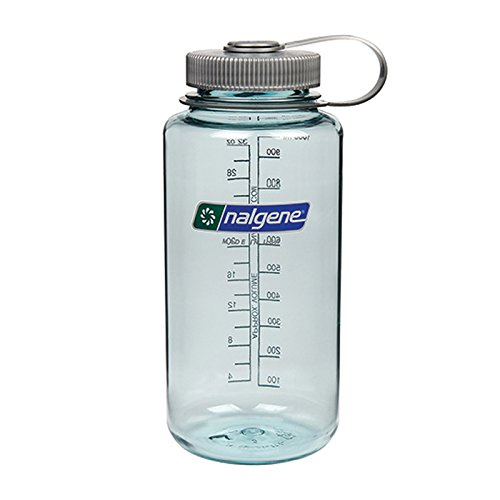 Nalgene Tritan Wide Mouth BPA-Free Water Bottle, Seafoam, 32-Ounces