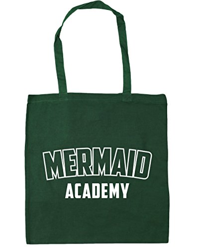 Beach 10 Mermaid 42cm Bottle HippoWarehouse x38cm Green litres Bag Gym Academy Shopping Tote wHdz0XBq
