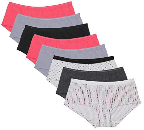 (Fruit of the Loom Women's 8 Pack Coolblend Boyshort Panties, Assorted/6 )
