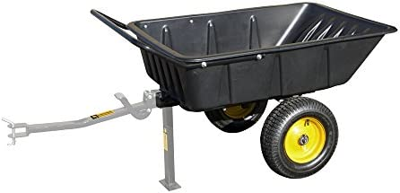 Dump Cart Tow Behind Lawn Tractor Garden Farm Wheelbarrow Trailer Mower Utility